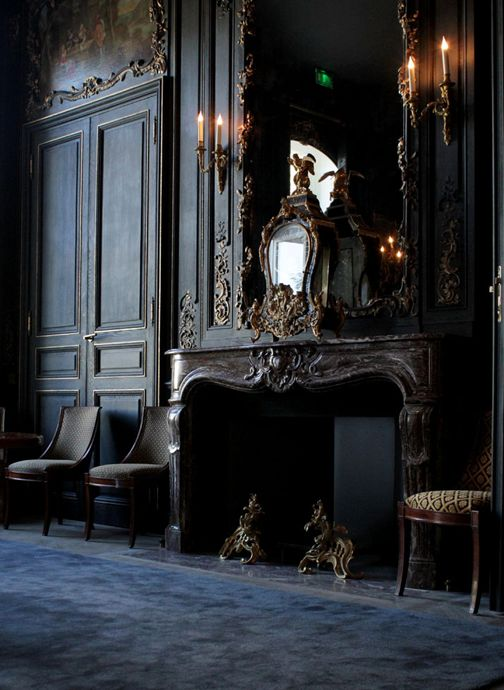 so fabulous!  makes me think of the Beast's castle from Beauty and the Beast!  #home #decor #fireplace