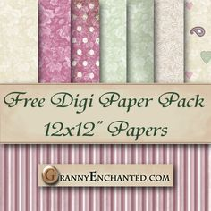FREE SHABBY MAUVE DIGI SCRAPBOOK PAPER PACK ♥♥Join 3,900 people. Follow our Free Digital Scrapbook Board. New Freebies every day.♥♥