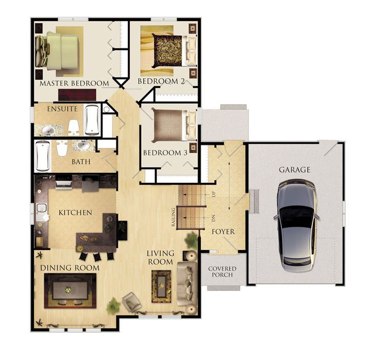 343 best images about planos de casas on pinterest for Home plans with apartments attached