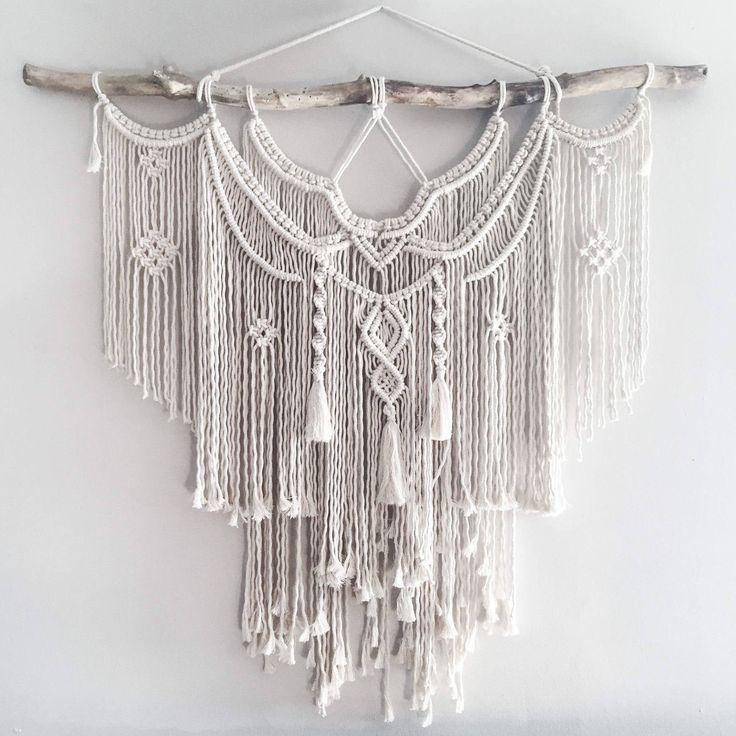 Large 44 Macrame Wall Hanging // tapestry // macrame