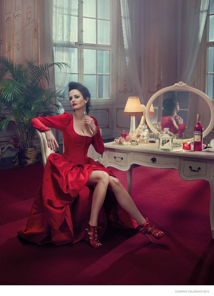 Eva Green Has Us Seeing Red in the 2015 Campari Calendar - That Lady In Red ~
