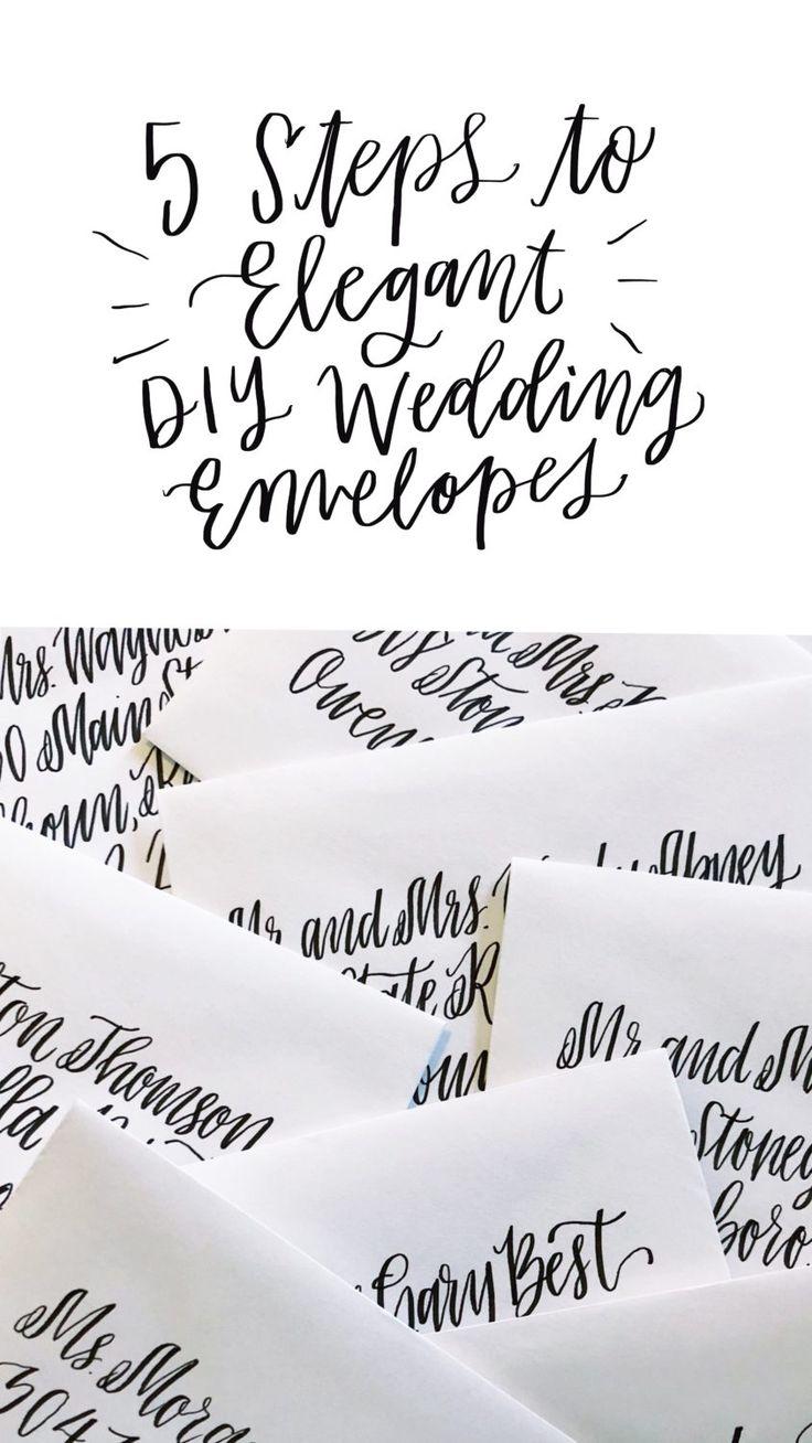 5 Steps to Elegant DIY Wedding Envelopes | Wedding ...