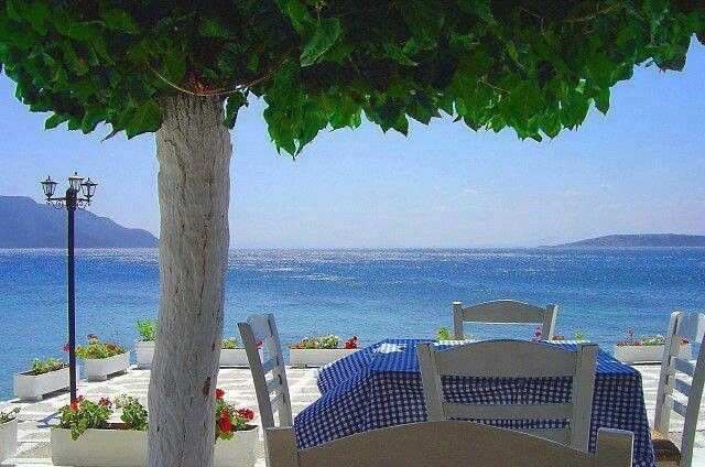 Nea Sryra beach in Evia island , Greece