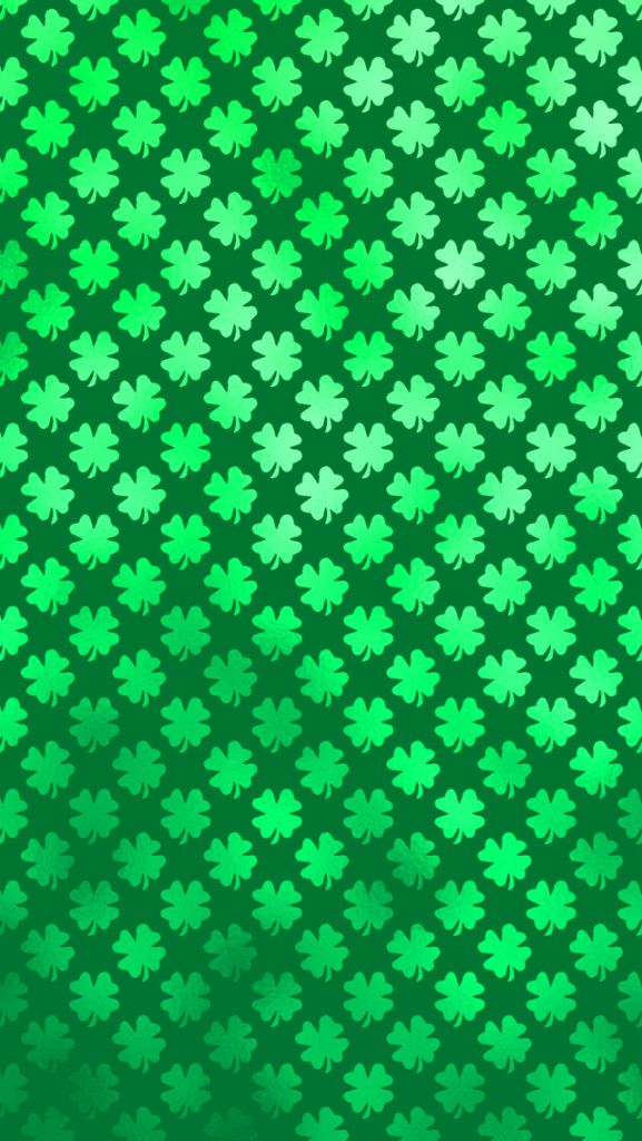 Free Shamrock Four Leaf Clover Saint Patricks Day iPhone Wallpaper.