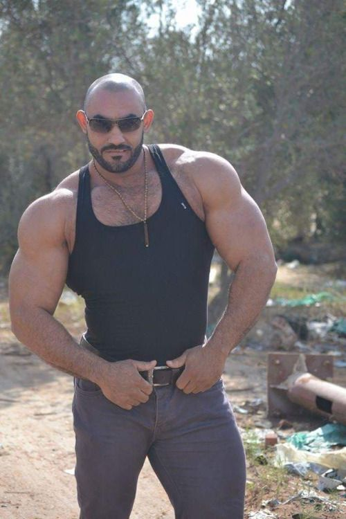 Arab And Muslim Muscle  Muscle Men Collection  Tank Man -1226