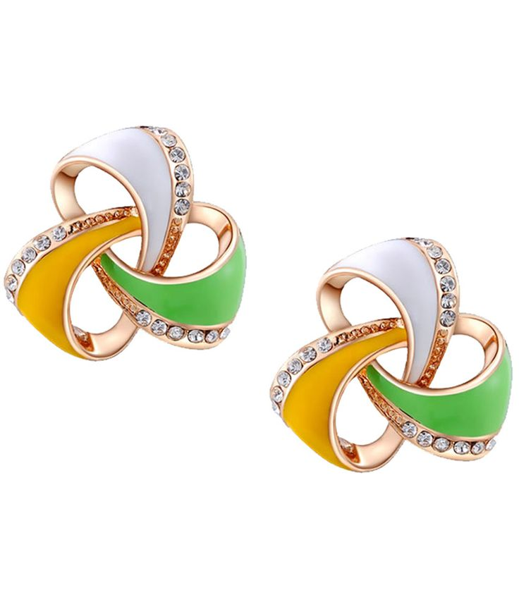 Kaizer Jewelry Stunning 18 Karat Rose Gold Plated Earrings, http://www.snapdeal.com/product/kaizer-jewelry-stunning-18-karat/283222919