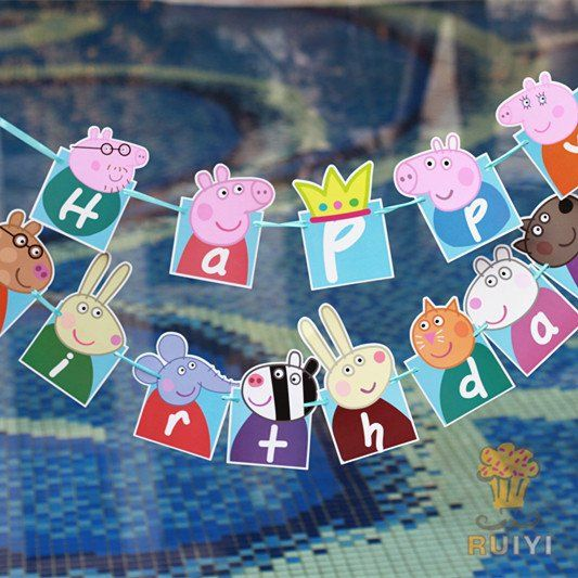 Peppa Pig Banner Peppa Pig Birthday Banner By: 17 Best Ideas About Peppa Pig On Pinterest