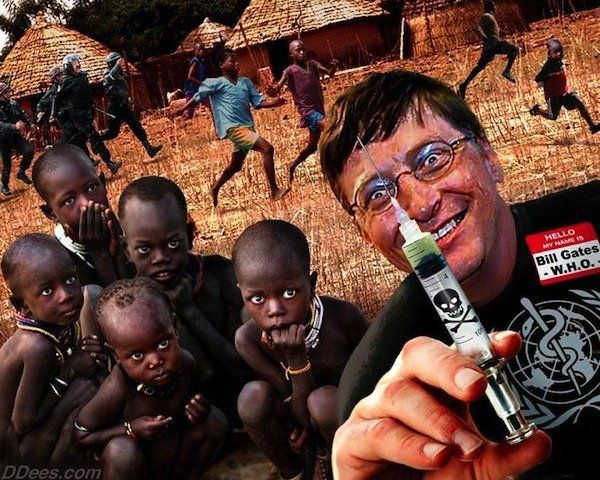 The antivaccination cult really despises Bill Gates' vaccinations in Africa. Not that he actually gives the vaccines, his foundation supports vaccinating kids in Africa, so that they have a b…