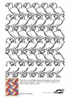 YES! let them color for hours!!! perfect filler project.  Add in video and artist profile... several different pages! YES! ESCHER Coloring Pages | krokotak