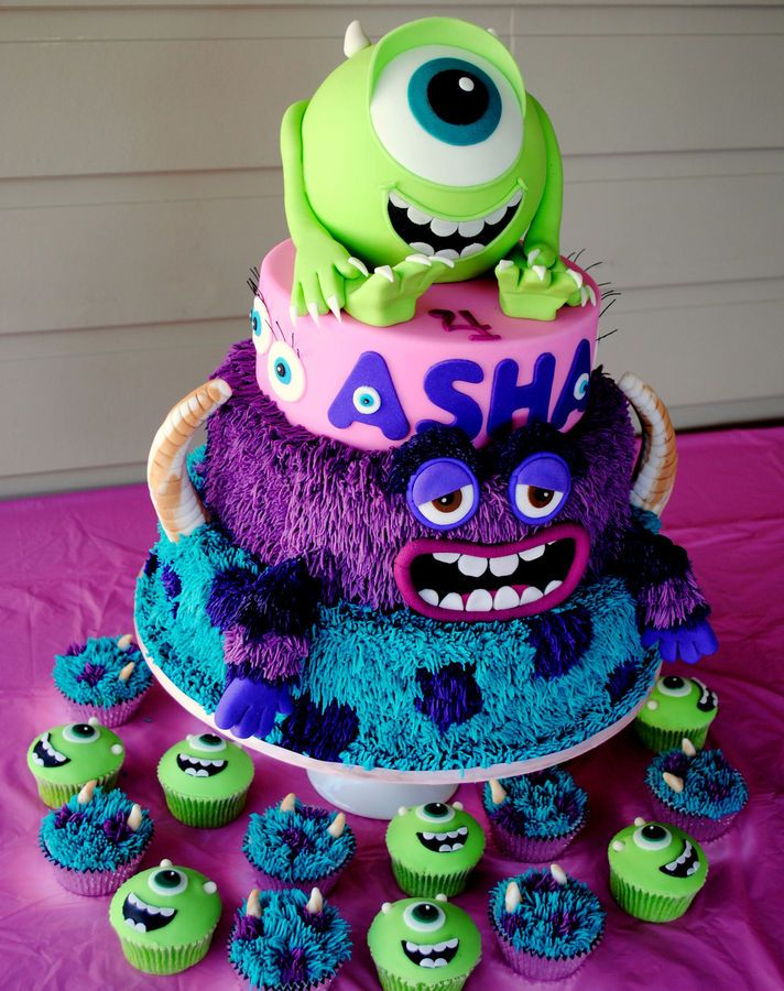 Monsters Inc - Monsters University Cake