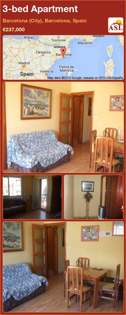 3-bed Apartment in Barcelona (City), Barcelona, Spain ►€237,000 #PropertyForSaleInSpain