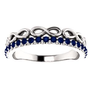 NEW! Blue Sapphire Infinity-Inspired Stackable Ring. Click through for product details OR to locate a jeweler near you.