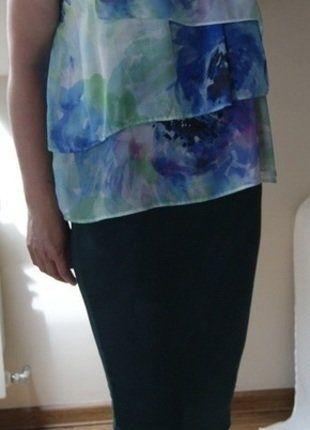 Kup mój przedmiot na #vintedpl http://www.vinted.pl/damska-odziez/bluzki-bez-rekawow/18438374-bluzka-kwiatowa-falbany-niebieski-zielony-r-4214