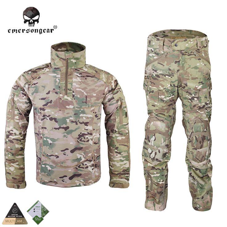 Emersongear All-Weather Tactical Uniform Suit Anti-riot Set Camouflage Airsoft Uniform Combat Shirt & Pants EM6894M Multicam