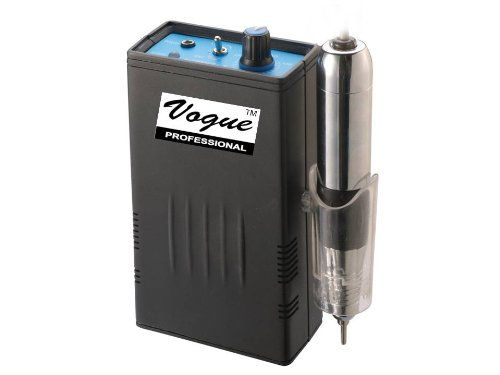 Vogue Rechargeable Electric Nail File This is the nail drill for you if you require portability!  It is cordless and recharges to provide up to 5 hours of usage time.  All of that and it still delivers up to 30 000 rpm!