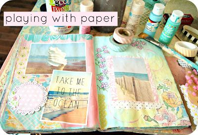 Playing with papers #art #journal #summer Everyday is a Holiday
