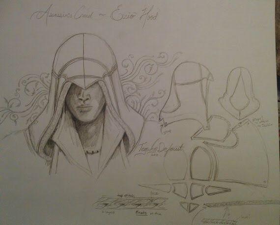 Drawing of head pattern