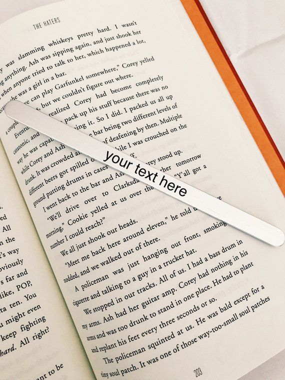 Custom Bookmark Personalized Literary Gift Etsy