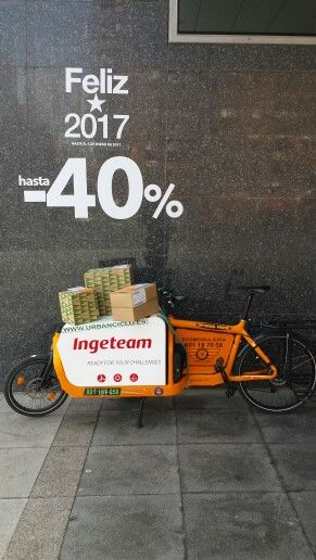 El Corte Ingles Online via Paack Www.urbanciclo.es - Tw: @urbancicloalba- f: Urban Ciclo - Instagram: @urbanciclo #urbanciclo #ecomensajeria  #Albacete #cargobike #bicimensajeria #bikemessengers #bullitteer #bullitt #bullittlife #messlife #bikecourier #transportesostenible cargo bike