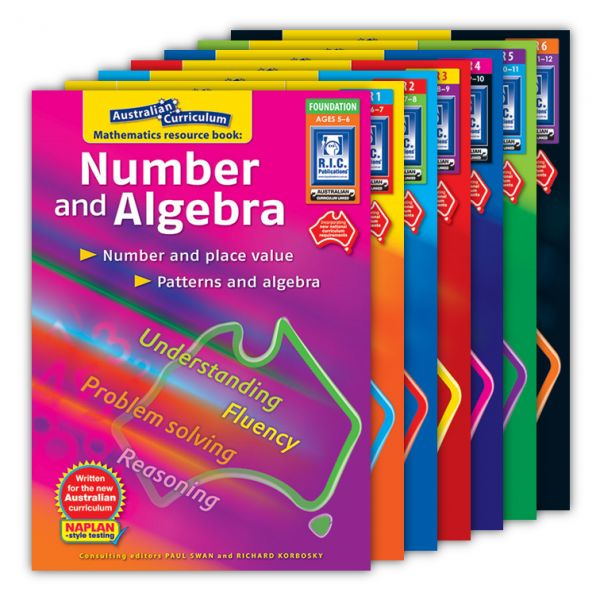 Australian Curriculum Mathematics - Number and Algebra. Australian Curriculum Mathematics resource books – 'Number and Algebra' (Foundation to Year 6) is a series of seven books specifically written to support the new national curriculum. These books are a compilation of resources designed to assist teachers in implementing the Number and Algebra strand of Australian Curriculum Mathematics.