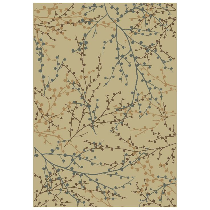 Shop Shaw Living Berries Rectangular Multicolor Transitional Area Rug Common X Actual