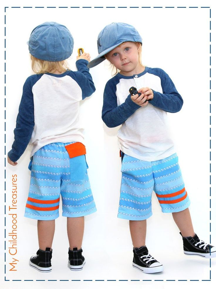 Boys Shorts Sewing Pattern - STRIPE (P302)