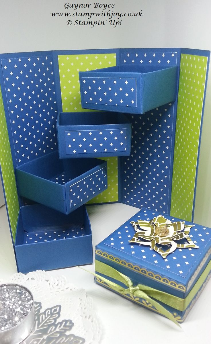 Treasure Box using Stampin' Up! Eastern palace suite. Today's project was inspired by the wonderful Diane Furniss. Card stock...