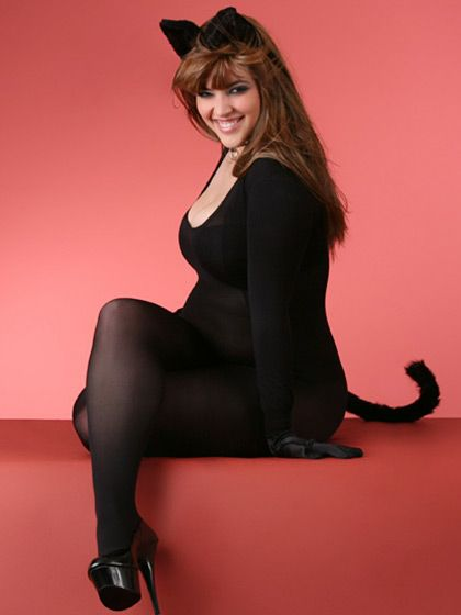 denise bidot supposedly plus sized model normal sized woman catsuit costume - Halloween Costume For Fat People