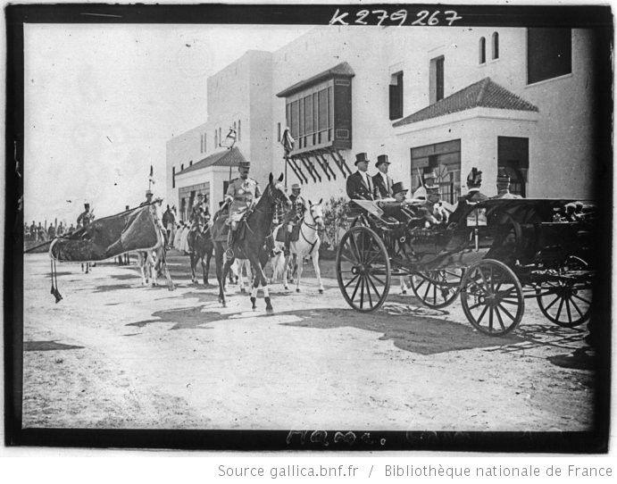 [Recueil. Maroc, voyage du président de la république française M. Alexandre Millerand du 05 au 15 avril 1922 et diverses vues de villes du Maroc en 1925] : [lot de photographies de presse] / [Meurisse ?] - 1