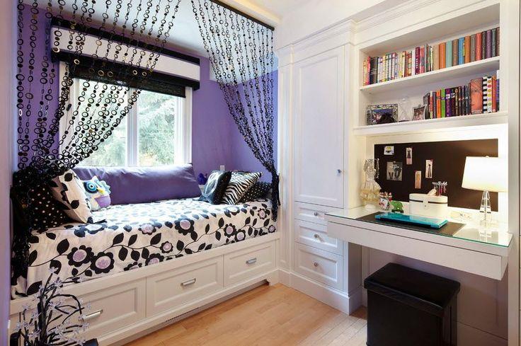 Фиолетовый цвет спальня для подростка