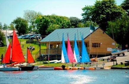 Stay in the huts at Tamar Lake Cornwall