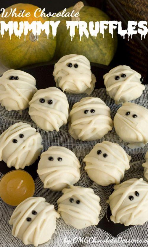 White Chocolate Mummy Truffles
