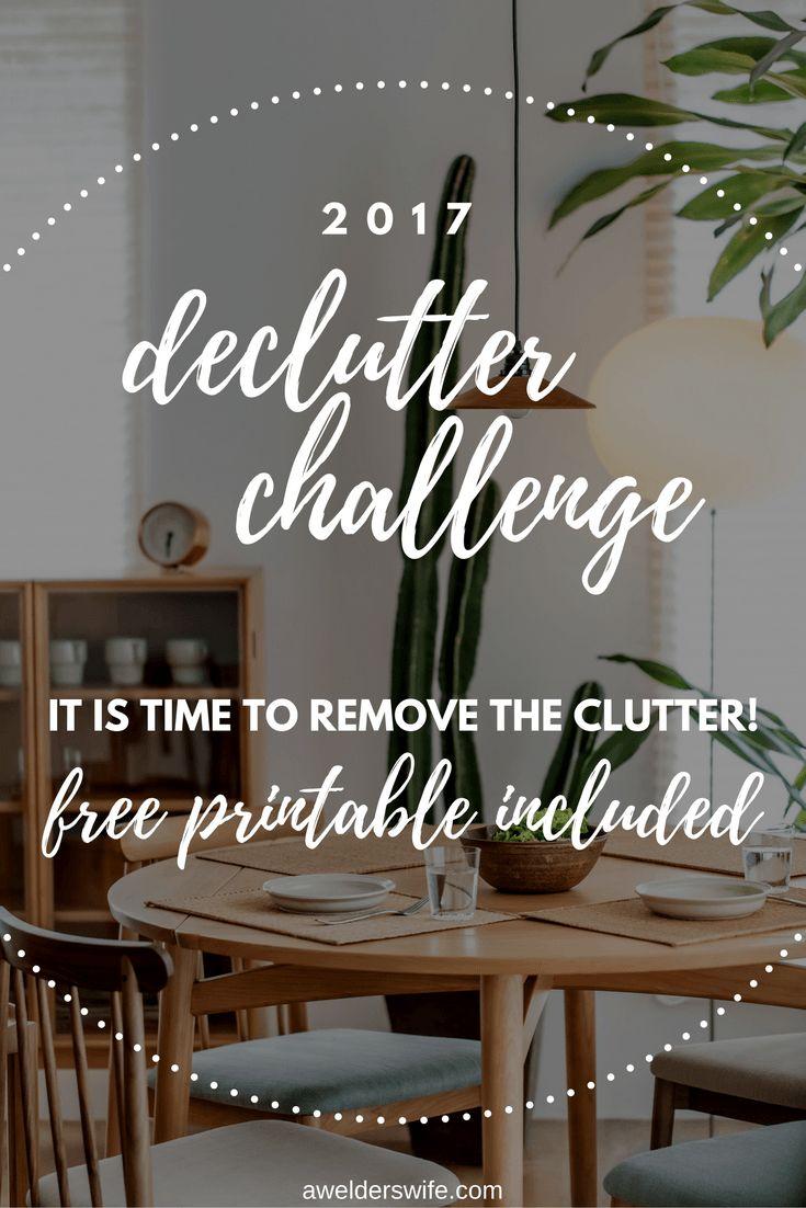 2017 Declutter Challenge by A Welder's Wife | www.awelderswife.com