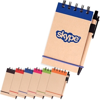 Kraft Eco-Friendly Recycled Logo Notepad - 3