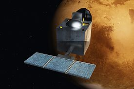 "The Mars Orbiter Mission (MOM), also called Mangalyaan (""Mars-craft"") is a space probe orbiting Mars since 24 September 2014. It was launched on 5 November 2013 by the Indian Space Research Organisation (ISRO). It is India's first interplanetary mission and ISRO has also become the fourth space agency to reach Mars, after the Soviet space program, NASA, and the European Space Agency."