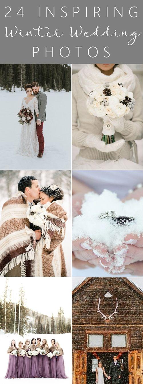 24 Inspiring Winter Wedding Photos. #winterwedding