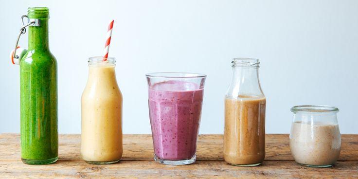 Vijf makkelijke recepten voor smoothies die je zonder sapcentrifuge kan maken.