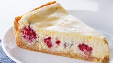 white chocolate raspberry lime cheesecake.