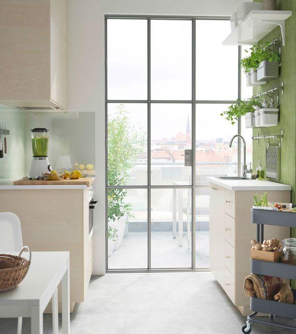 la cocina con fregadero de cm de profundidad de ikea