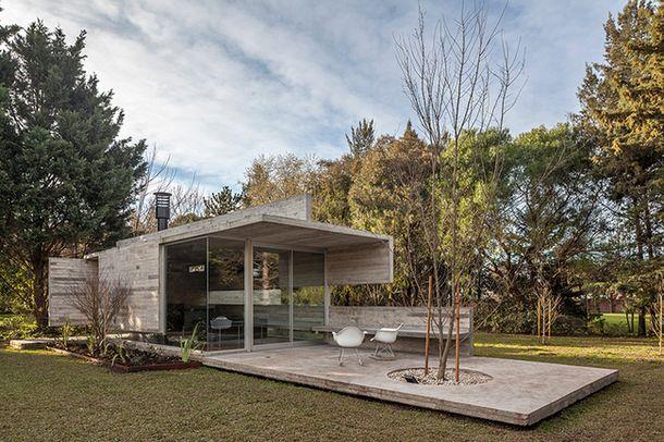 Бетонный павильон для отдыха в Буэнос-Айресе