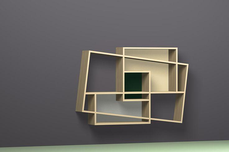 Oblique bookshelves Isboa, Pisa and Frisco Design: Hugues Weill Producer: Drugeot Labo