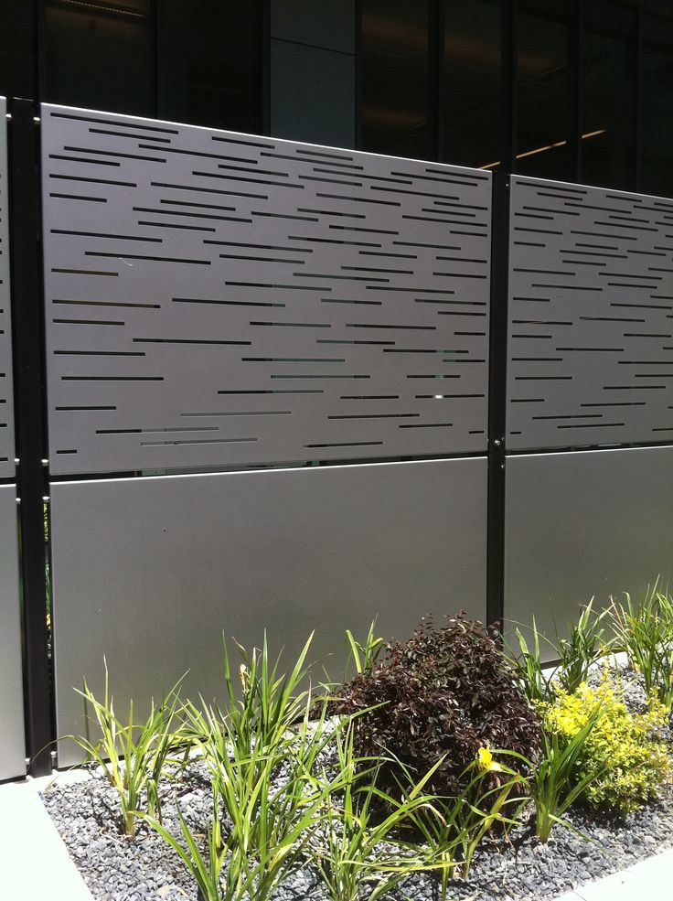 bok modern A18 pattern geometrical slotted contemporary security fence