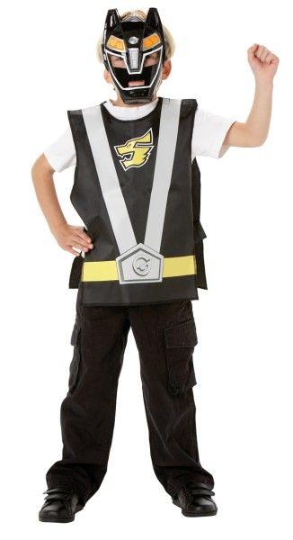 Kit Power Rangers™ negro infantil: Este kit bajo licencia oficial de Power Rangers es de color negro para niño y está compuesto por un pecho y una máscara (camiseta blanca y pantalones no incluidos).El pecho de...