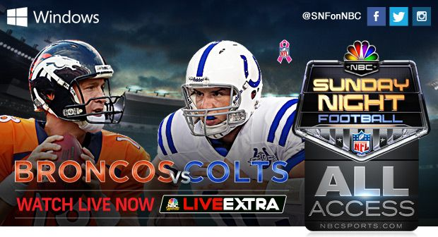NBC Sports - broadcasts full Sunday Night Football games online.