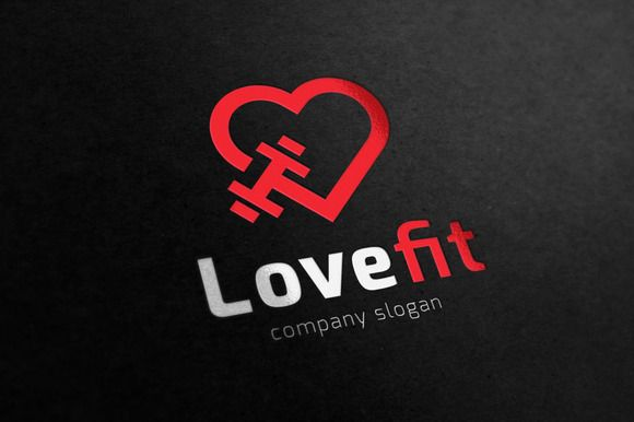 Love Fitness logo by Super Pig Shop on @creativemarket                                                                                                                                                     More
