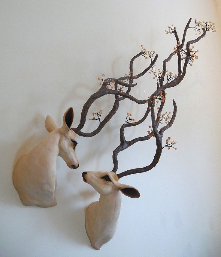 'Life's breath entwined' by Natasha Cousens #art #sculpture #deer #love