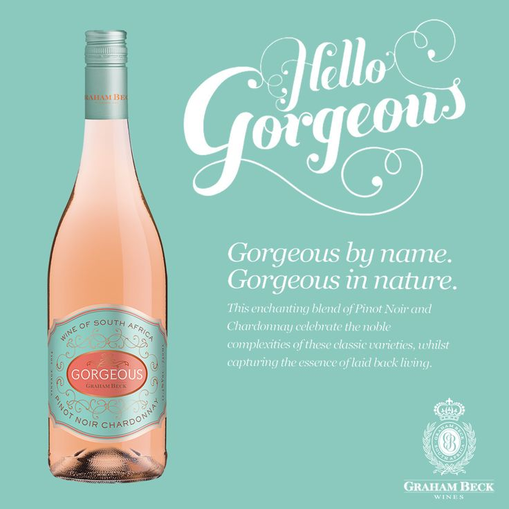 Introducing the newest member of the Graham Beck family, Gorgeous - a delectable blend of Pinot Noir and Chardonnay. Gorgeous, is the first still wine produced from classic Methode Cap Classique varieties made by cellarmaster Pieter Ferreira.