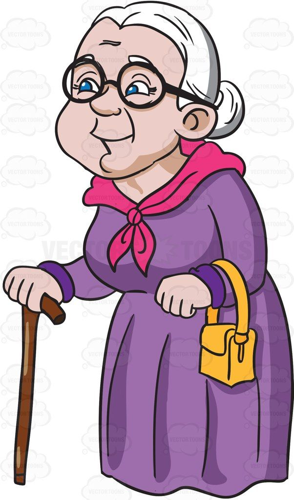 A Charming And Happy Grandmother | Cartoon, Grandmothers ...