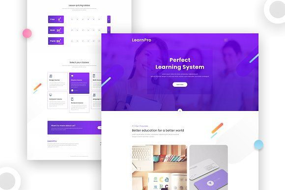 Learnpro Website Template By Sujon Baidya On Creativemarket