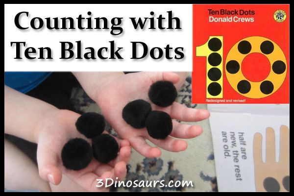 Counting with Ten Black Dots - Virtual Book Club - 3Dinosaurs.com